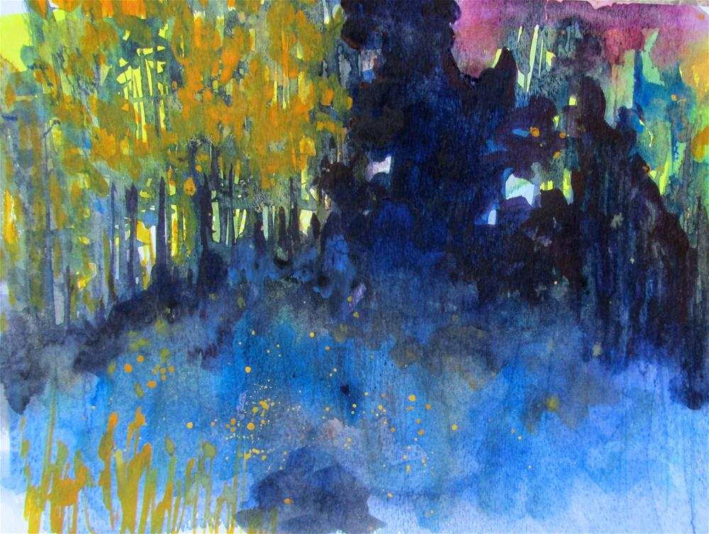 """Deep Dark Woods"" original fine art by Patricia MacDonald"