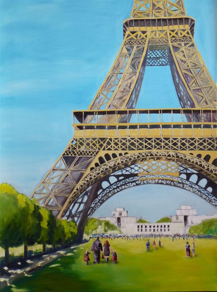 """Eiffel Tower commission"" original fine art by Karen D'angeac Mihm"