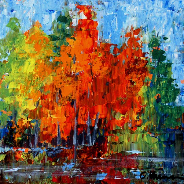 """Autumn Foliage"" original fine art by Anna Vreman"