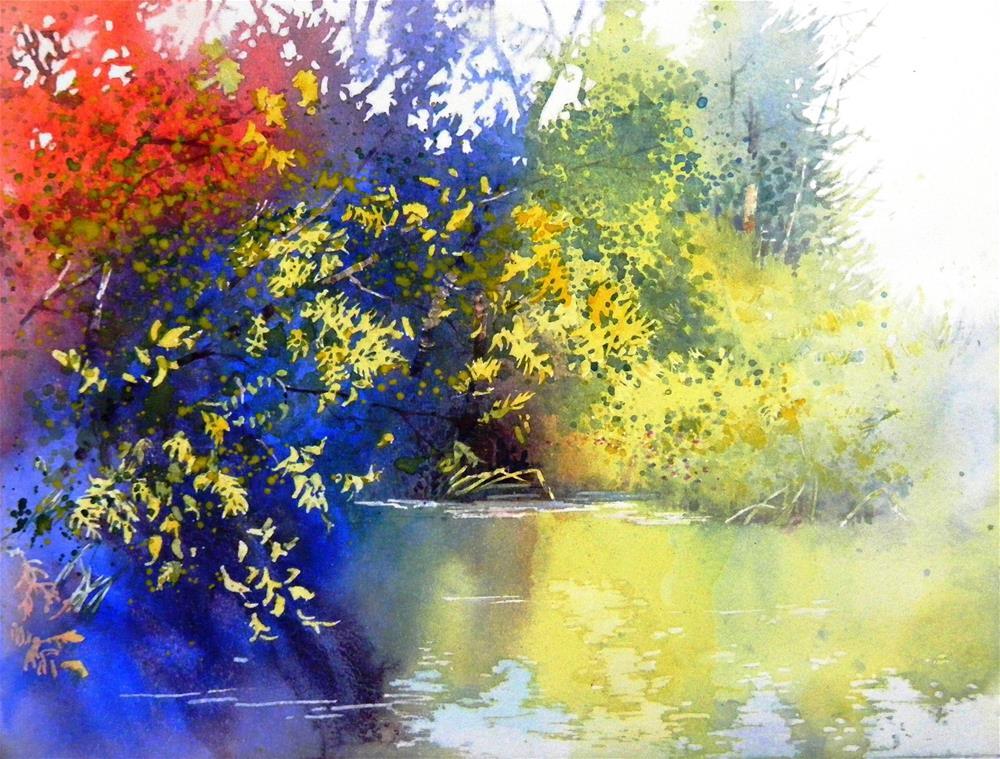 """Madrona marsh"" original fine art by Celine K.  Yong"