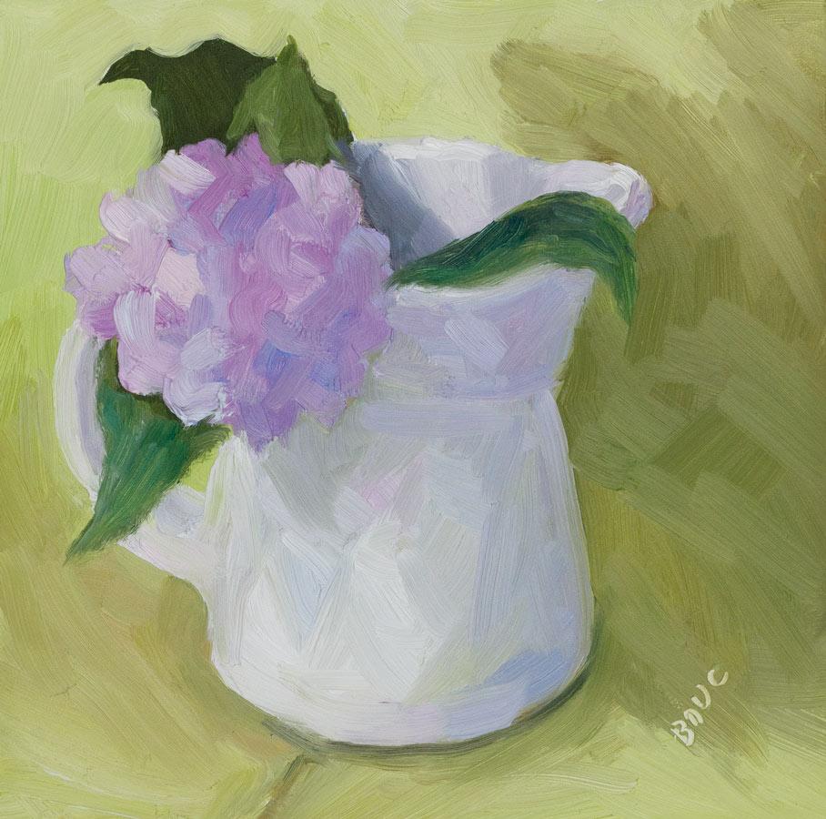 """Baby Hydrangea"" original fine art by Jana Bouc"
