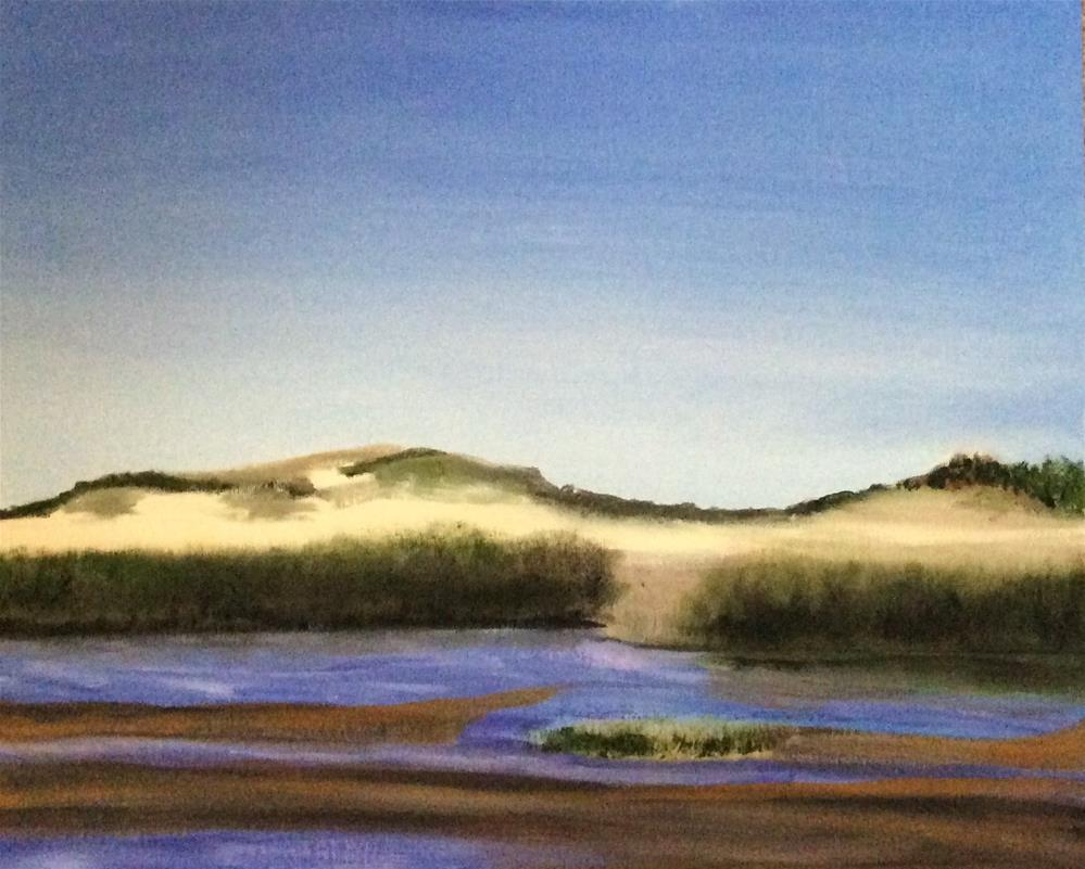 """Chapin Beach Evening"" original fine art by Patty Barnes"
