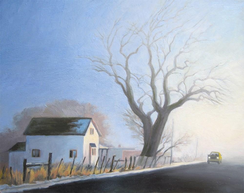 """January Fog"" original fine art by Kath Reilly"