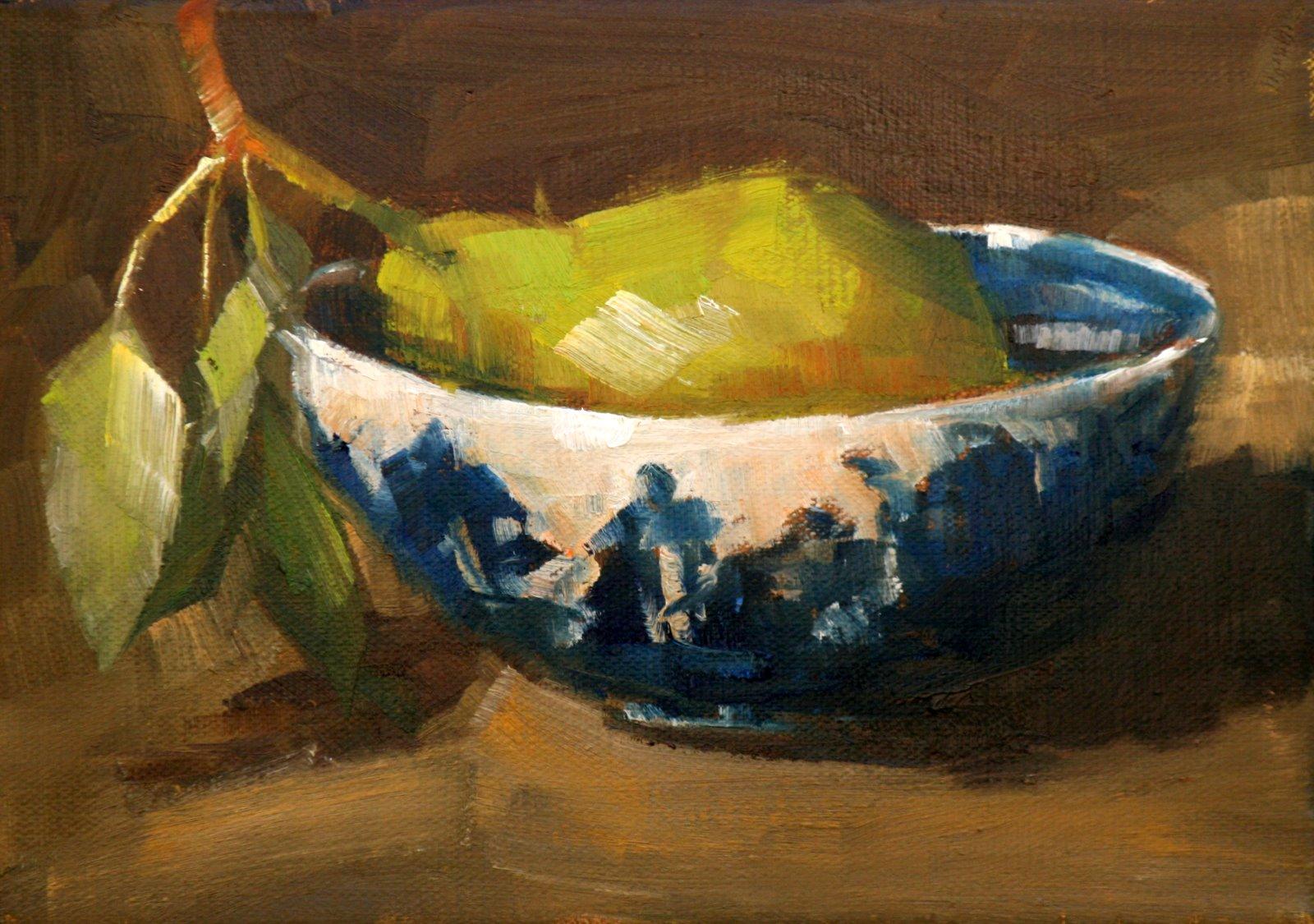 """junaluska pear"" original fine art by Carol Carmichael"