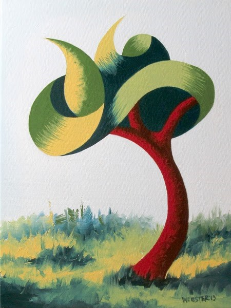 """Mark Webster - Untitled Abstract Landscape Oil Painting"" original fine art by Mark Webster"