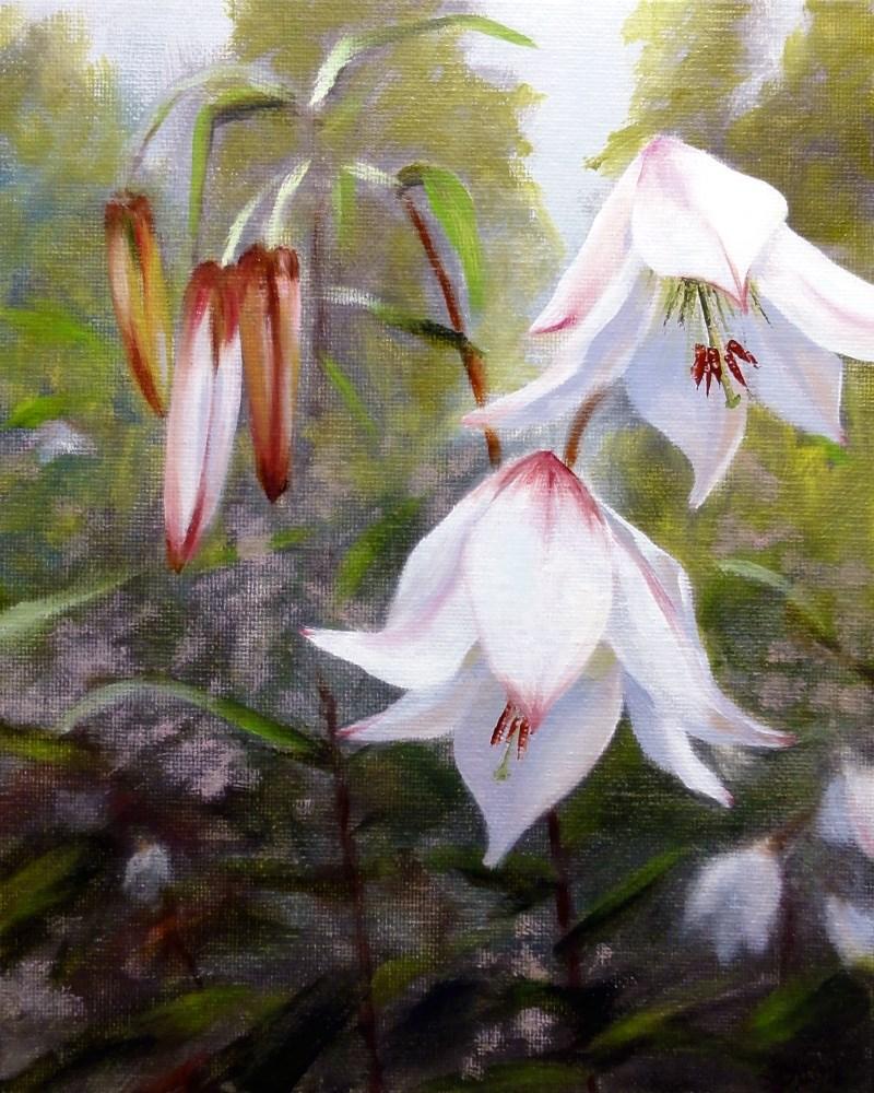 """""""Easter Lilies"""" original fine art by Dalan Wells"""