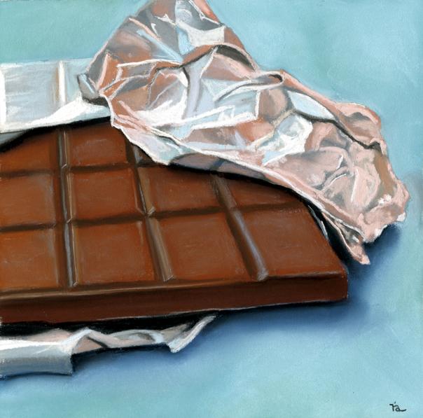 """Foiled"" original fine art by Ria Hills"