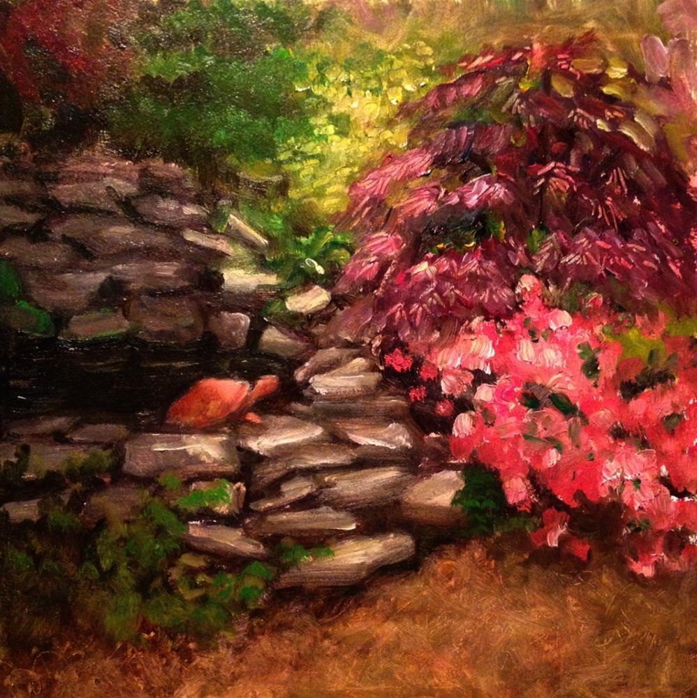 """""""Terracotta Turtle - plein air"""" original fine art by Beth Moreau"""