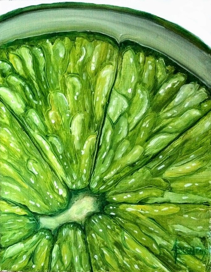 """Lime"" original fine art by Jolynn Clemens"