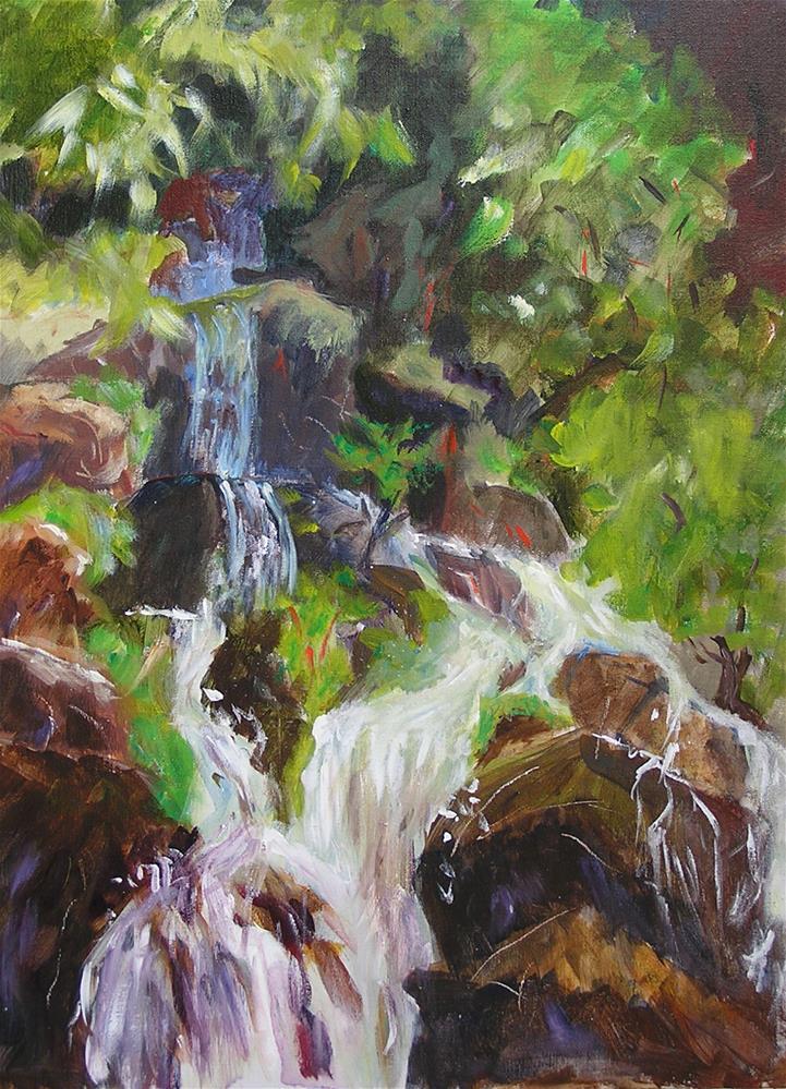 """Waterfall"" original fine art by Carol Cochran"