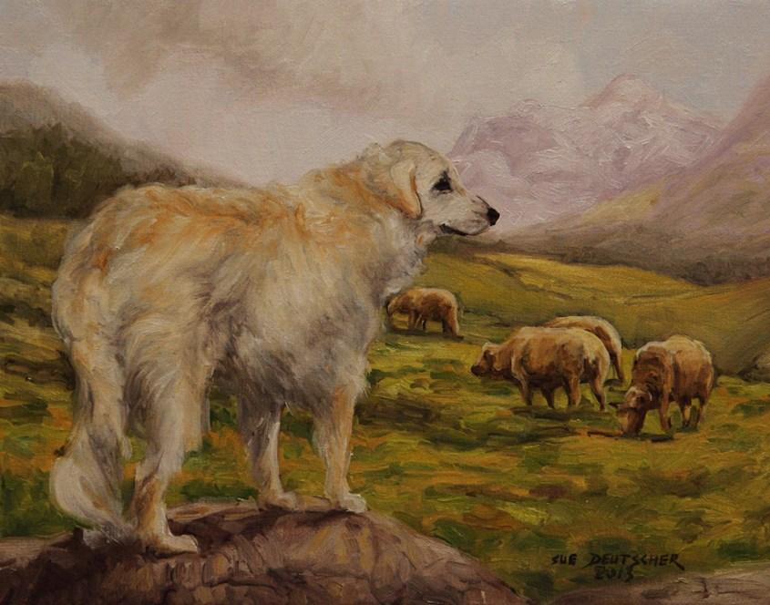 """""""Great Pyrenees"""" original fine art by Sue Deutscher"""