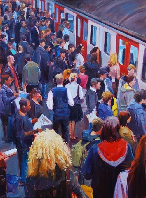 """""""Rush Hour VI"""" original fine art by Adebanji Alade"""