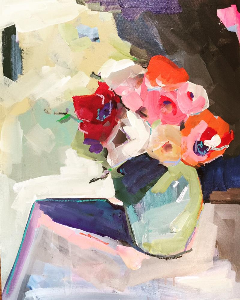 """""""501 Vase of Abstract"""" original fine art by Jenny Doh"""