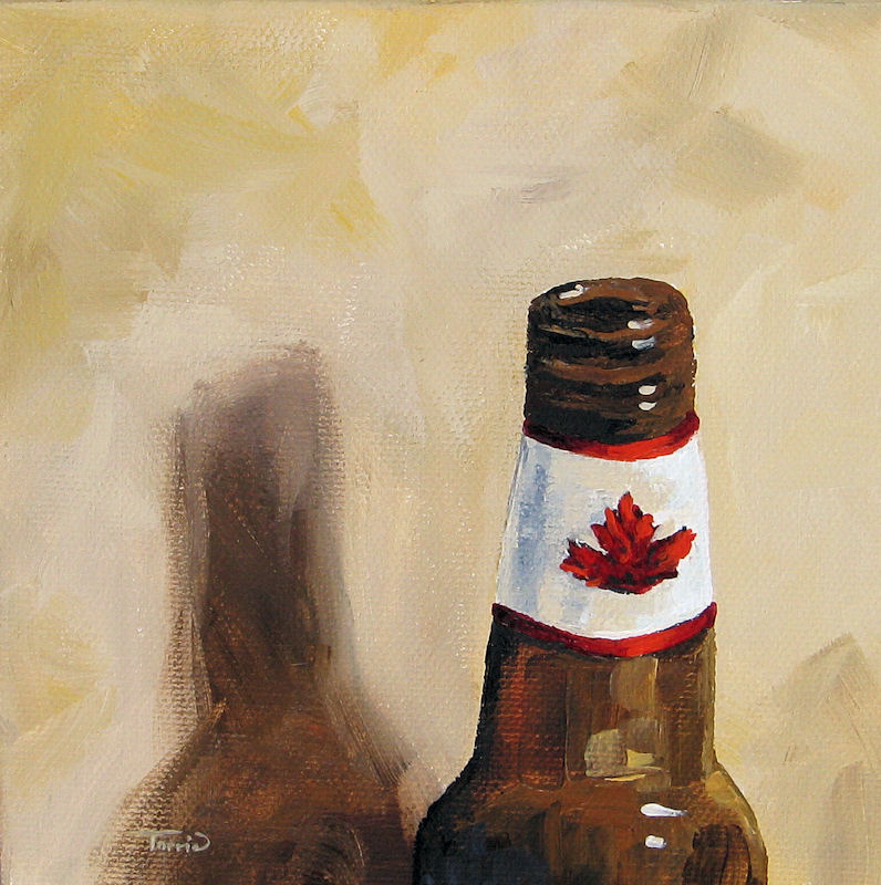 """Canadian Beer"" original fine art by Torrie Smiley"