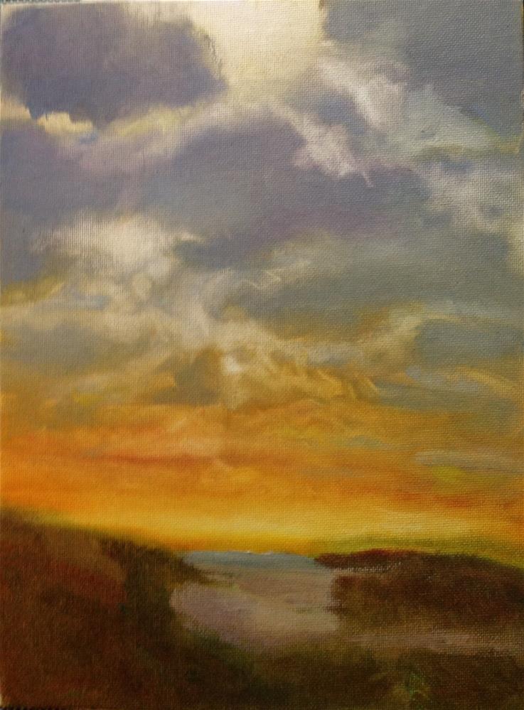 """Sunset Beach"" original fine art by Marcia Bergtholdt"