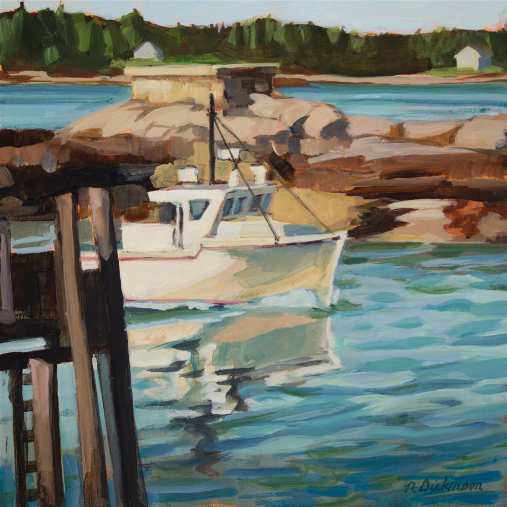 """To The Pier"" original fine art by Nat Dickinson"