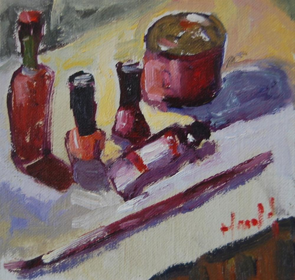 """Red Study"" original fine art by Deborah Harold"