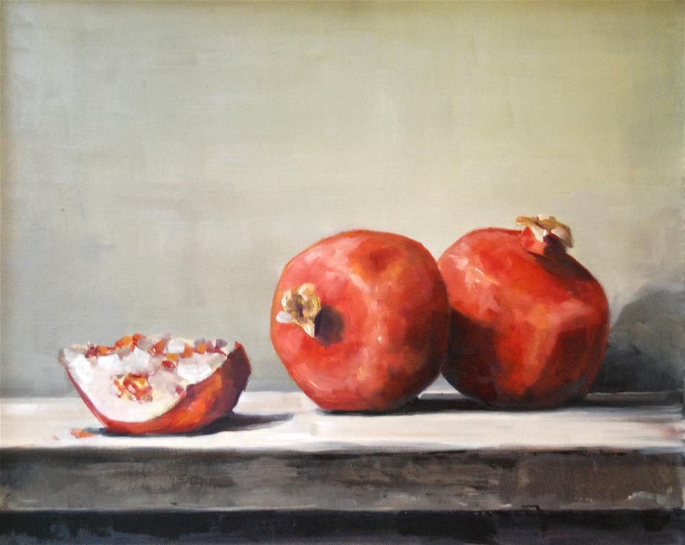 """Still Life of Pomegranates"" original fine art by Christina Dowdy"