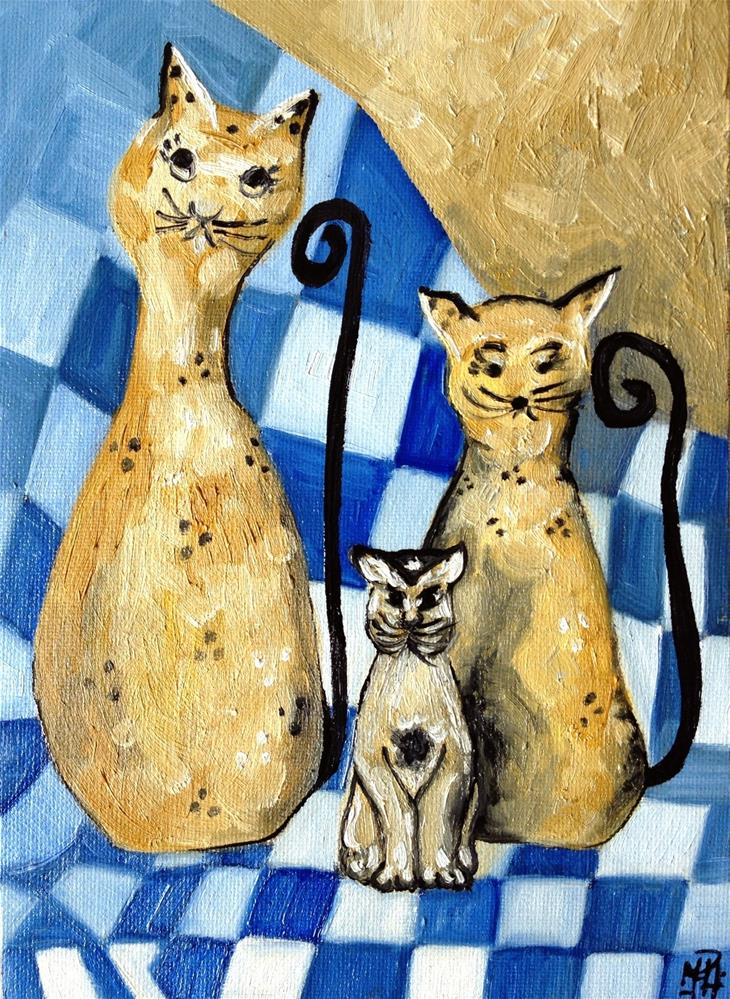 """Kittens"" original fine art by Monica Pinotti"