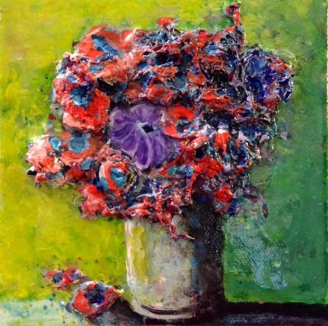 """The Purple Flower (Revised)"" original fine art by Debbie Yacenda"
