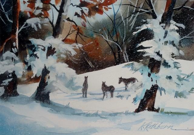 """Linda's Best Friends"" original fine art by Kathy Los-Rathburn"