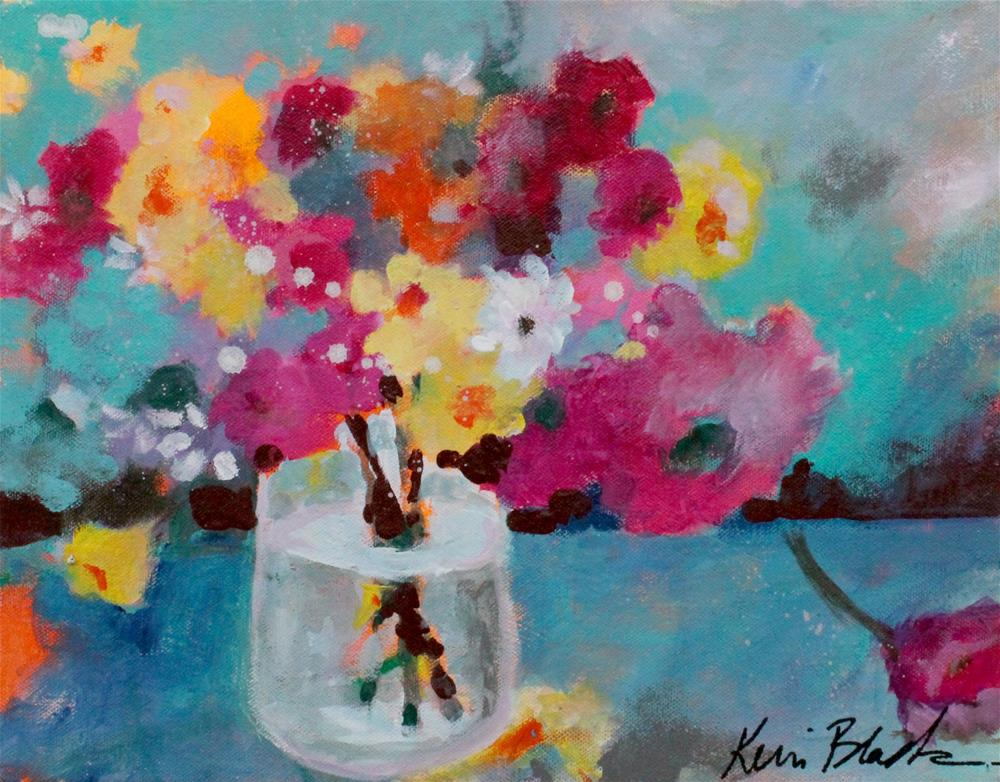 """Colorful Bouquet "" original fine art by Kerri Blackman"