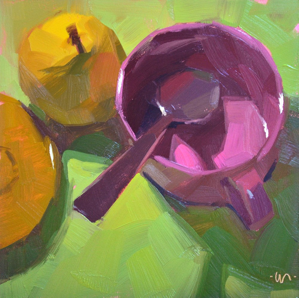 """Pear Fare"" original fine art by Carol Marine"