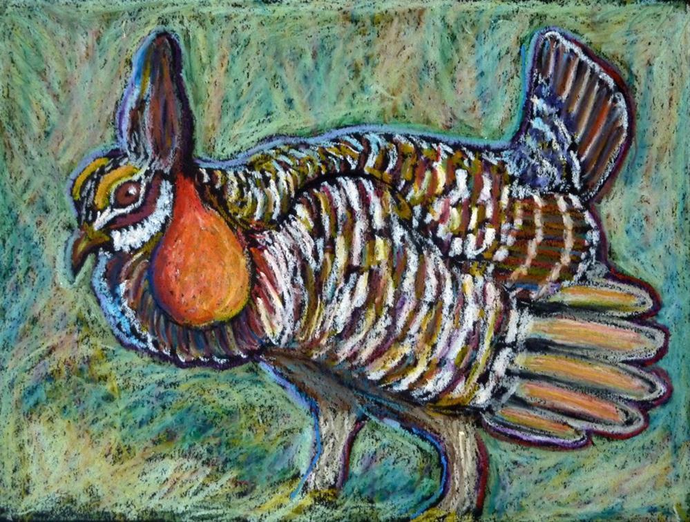 """""""Prairie Chicken"""" original fine art by Ande Hall"""