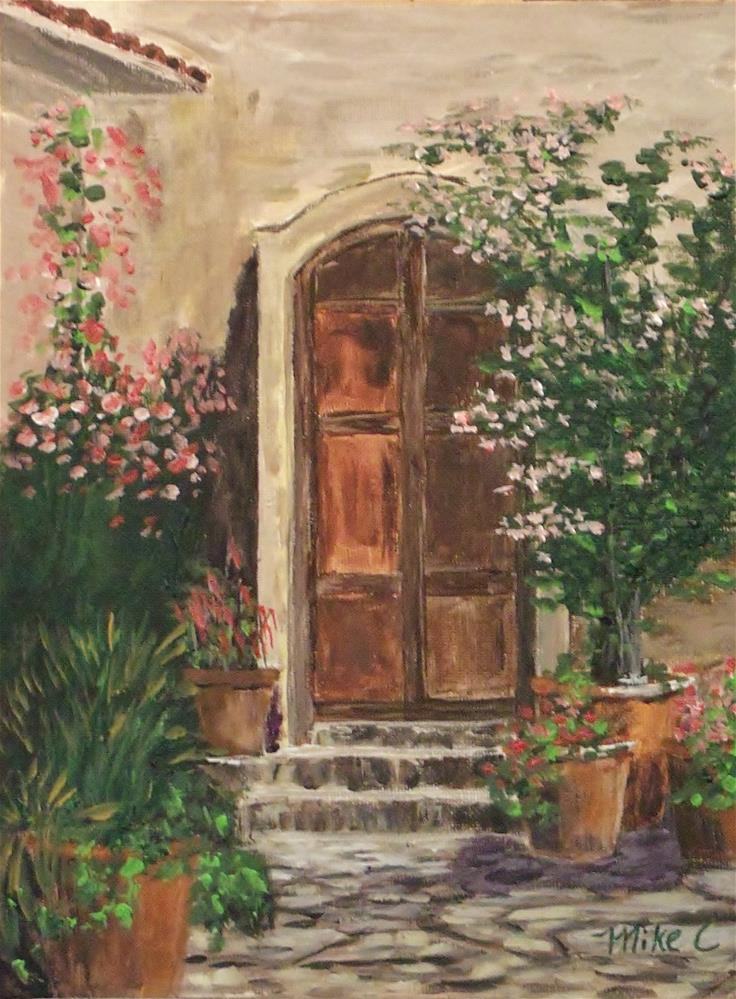 """The Wooden Door"" original fine art by Mike Caitham"