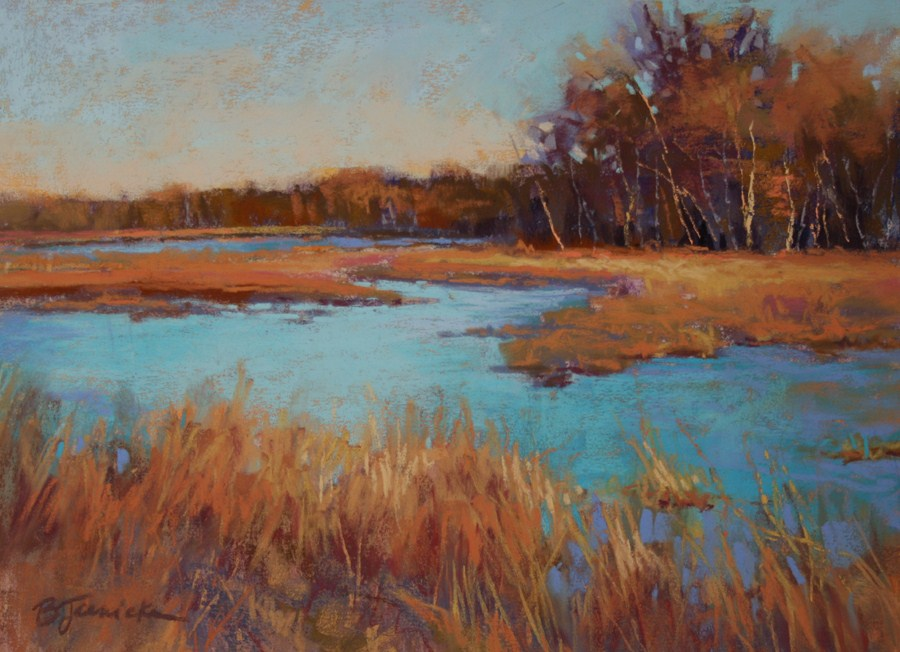 """November Marsh"" original fine art by Barbara Jaenicke"