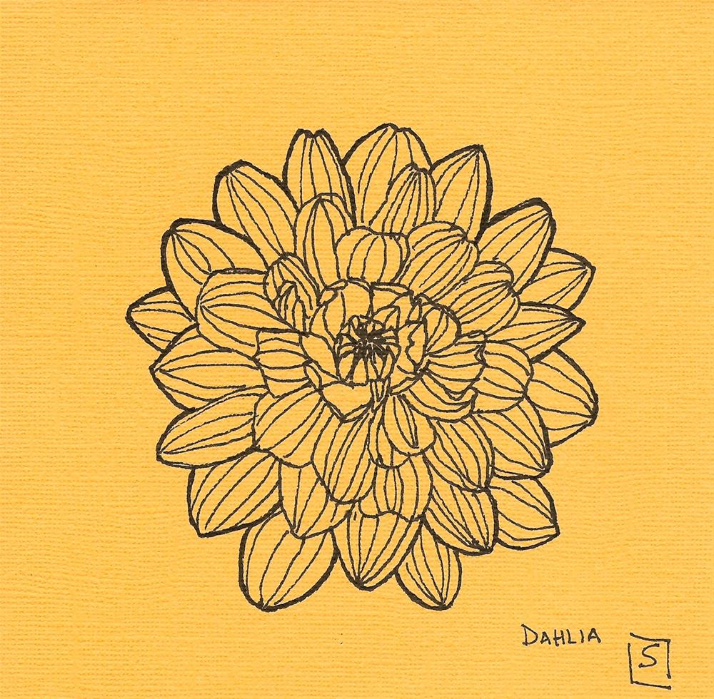 """6060 - Dahlia"" original fine art by Sea Dean"