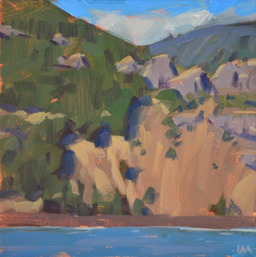 """Across the River"" original fine art by Carol Marine"