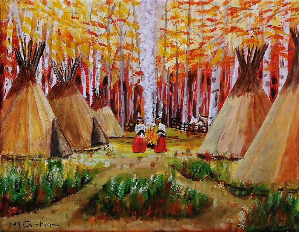 """Autumn Camp"" original fine art by Mike Caitham"