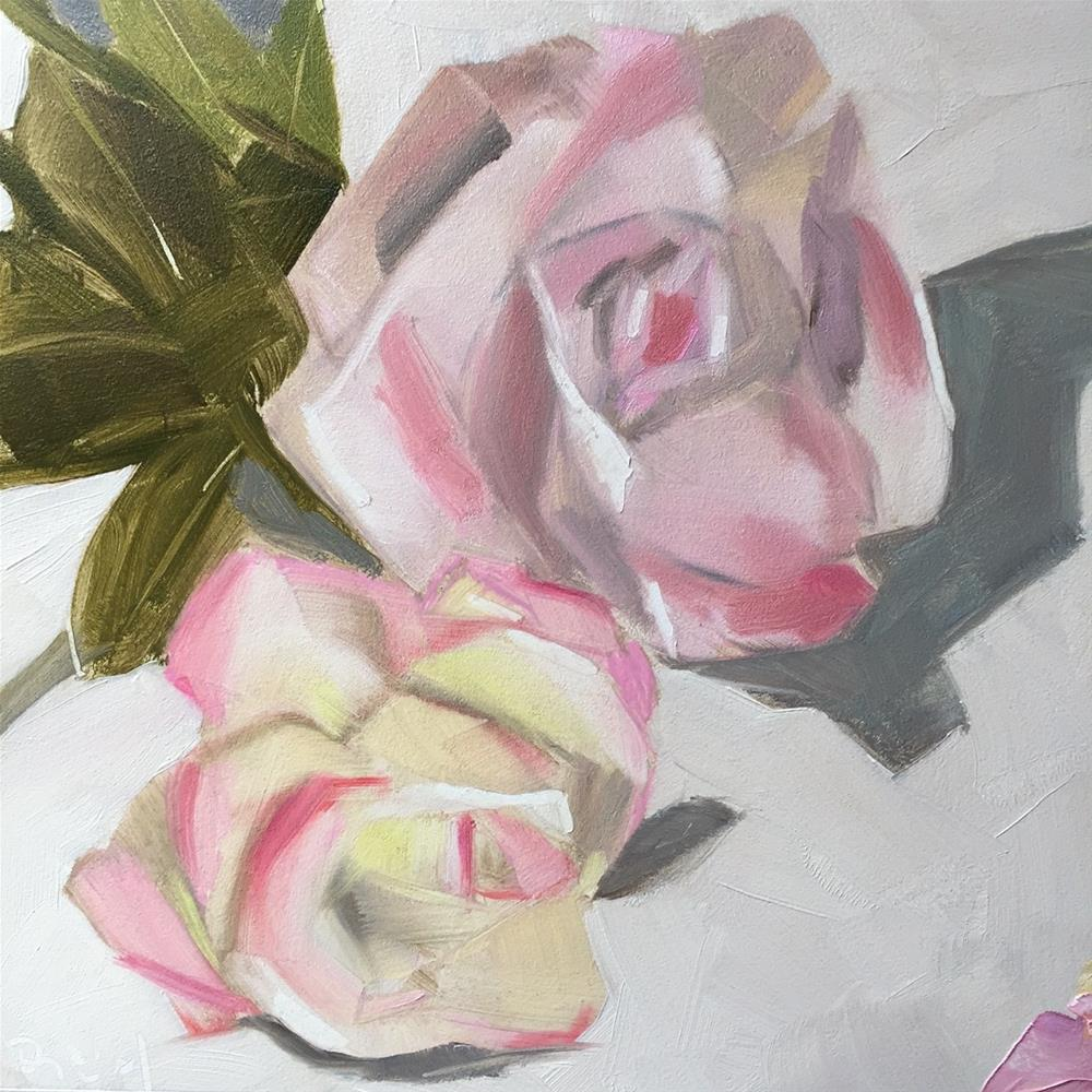 """215 Two Roses"" original fine art by Jenny Doh"
