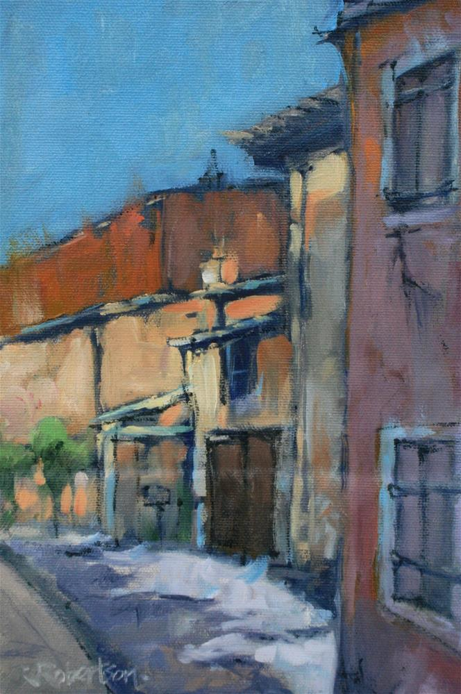 """Provence - Village Back Street II"" original fine art by Jane Robertson"