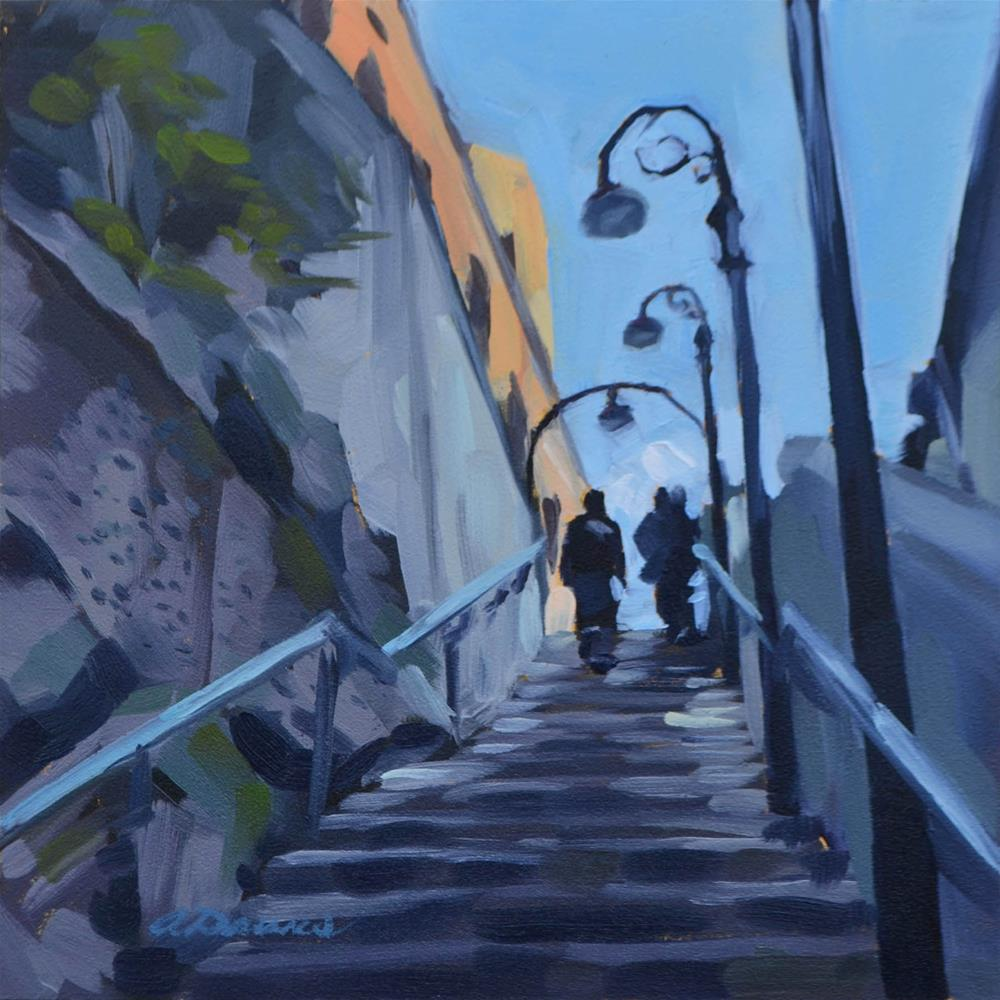 """Stairway in the Rocks"" original fine art by April Dawes"
