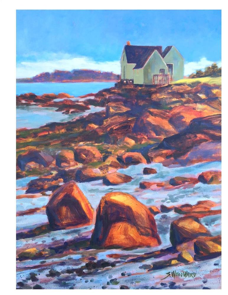 """Willard Shacks - Rock Glow"" original fine art by Suzanne Woodward"
