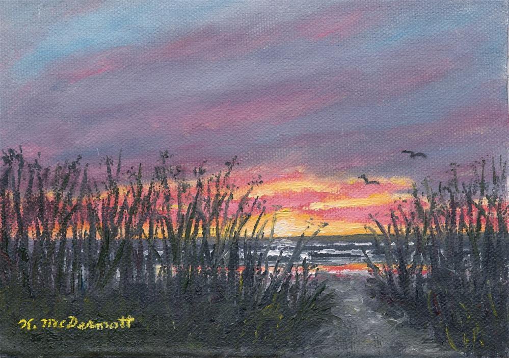 """""""Ocean Daybreak"""" original fine art by Kathleen McDermott"""