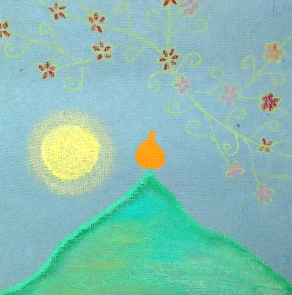 """Flame on the Mountain - Way to Heaven IIII"" original fine art by Adéla Svobodová"