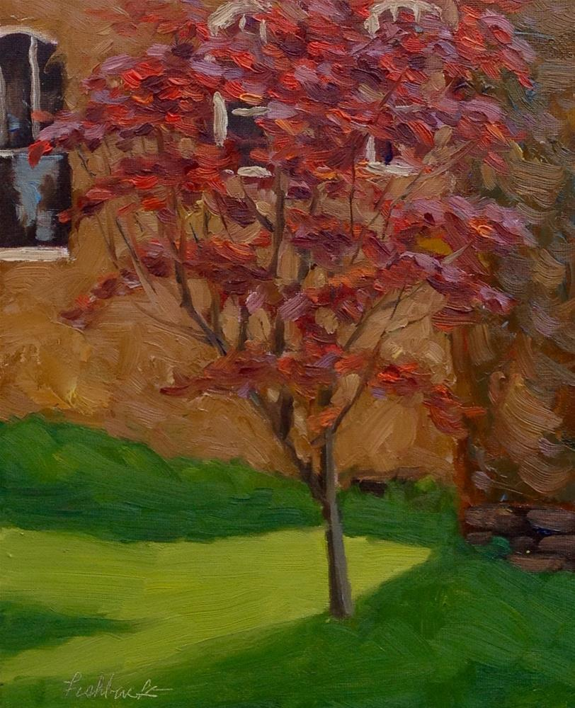 """Japanese Maple en Plein air"" original fine art by Daniel Fishback"