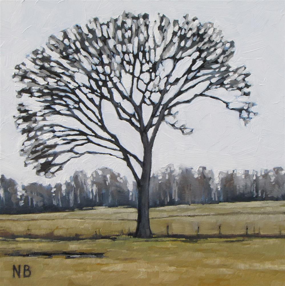"""The Normal Tree"" original fine art by Nora Bergman"