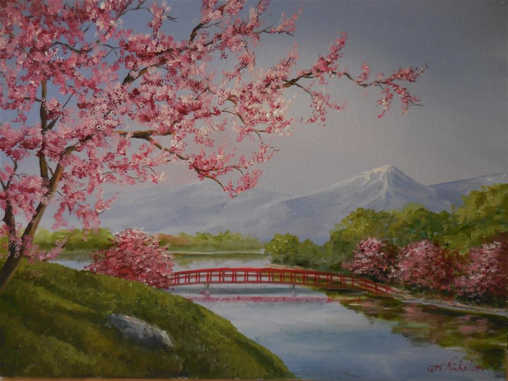 """Asian Landscape"" original fine art by Terri Nicholson"
