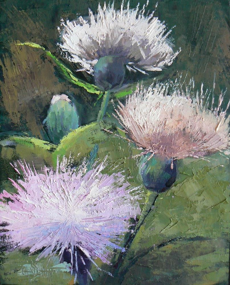 """Daily Landscape Painting, 8x10 Oil, A Thistle Day"" original fine art by Carol Schiff"