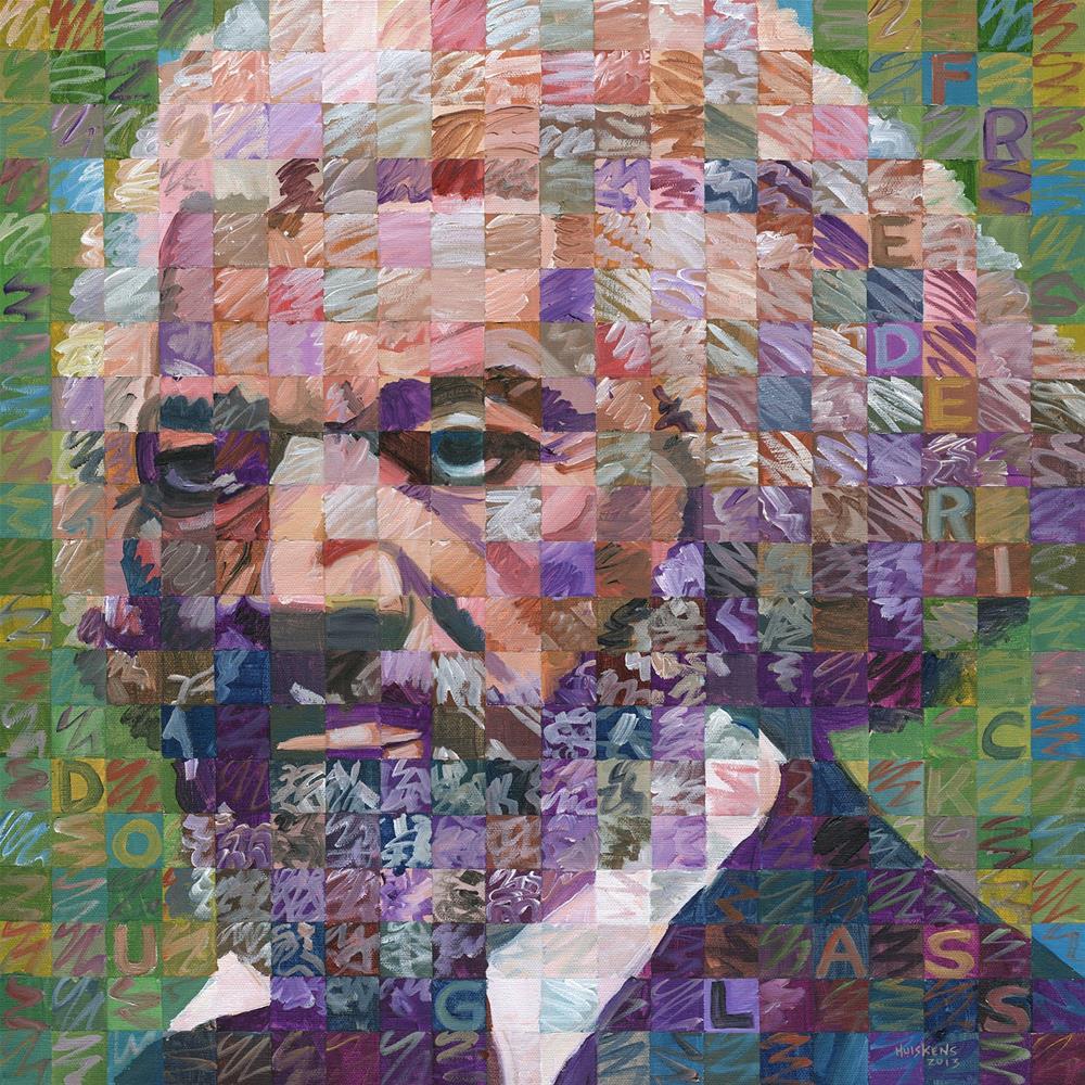 """Frederick Douglass"" original fine art by Randal Huiskens"