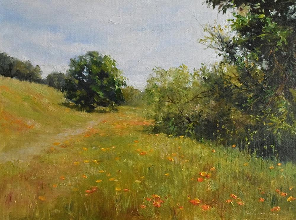 """califoria poppy"" original fine art by Kelvin Lei"