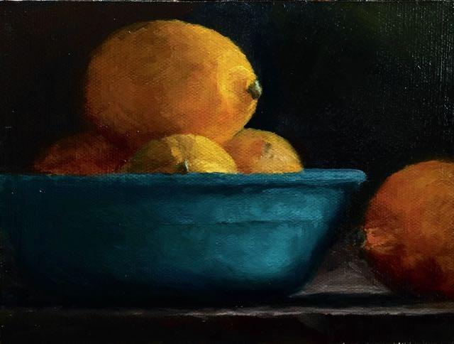 """""""lemons"""" original fine art by max moss"""