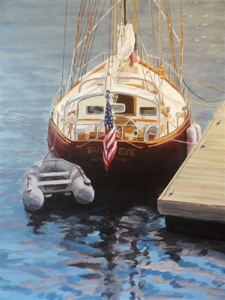 """Camden Stars and Stripes"" original fine art by Christine Blain"