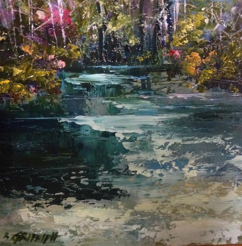 """""""Creekside"""" original fine art by Bonnie Griffith"""