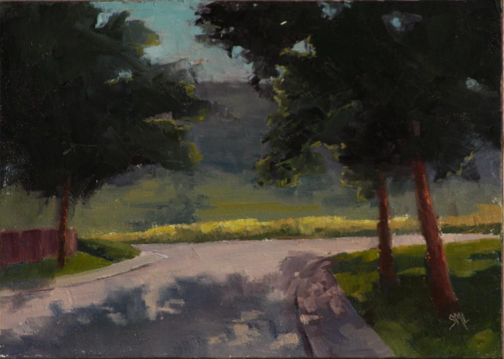 """""""8 pm Alkire & Cross"""" original fine art by Sheila Marie"""