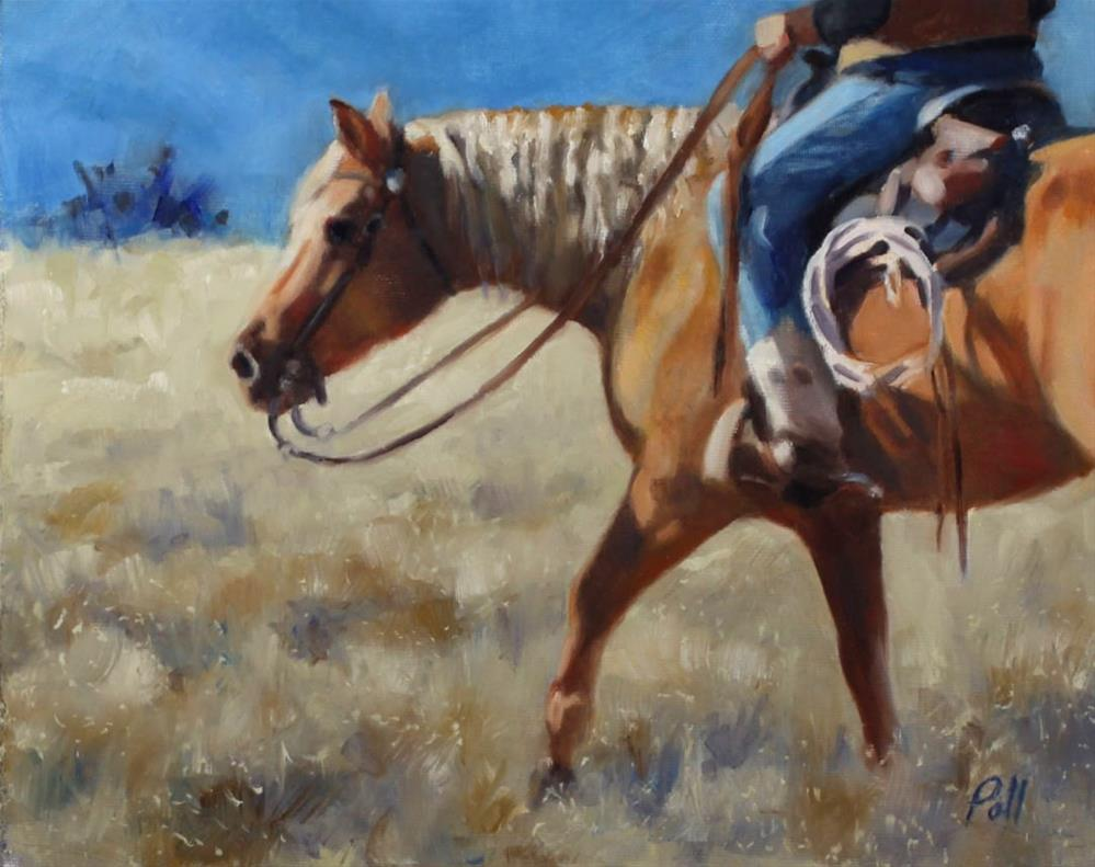 """Morning Ride (framed)"" original fine art by Pamela Poll"